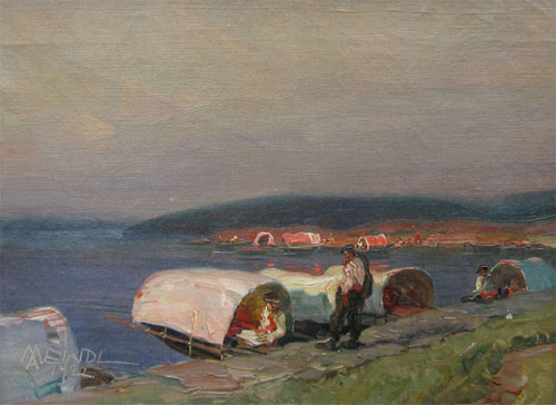 Albert Meindl: Lake Maggiore with Water Taxis