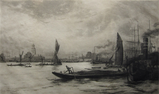 Charles Henry Baskett: Limehouse Reach