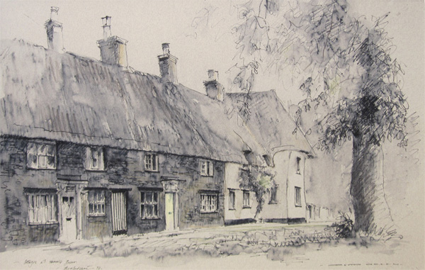 David Green: Cottages at Harrold Green, Bedfordshire