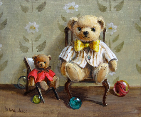 Deborah Jones: Teddy Bears in Chairs