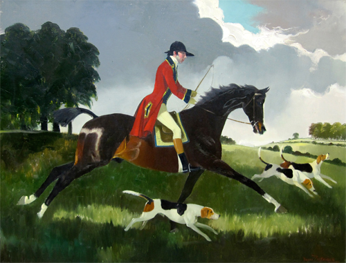 Doris Zinkeisen: Huntsman and Hounds