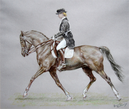 Lady Dressage Rider by Franco Matania