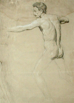 Male Nude by Frank Lewis Emanuel