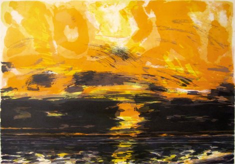 John Houston: Sunset Over the Sea