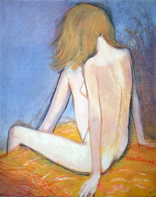 John O'Connor: Girl with Blue and Orange