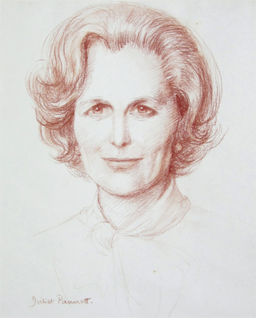 Juliet Pannett: Portrait of Margaret Thatcher