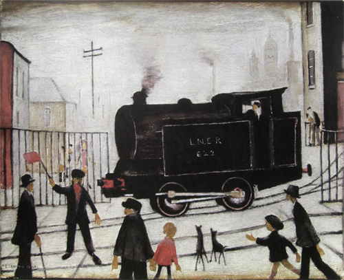 L. S. Lowry: Level Crossing with Train