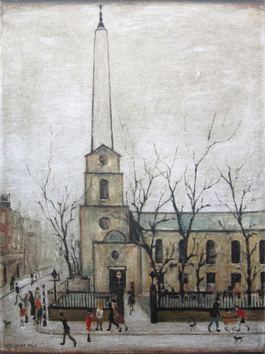 L. S. Lowry: St. Luke's Church, Old Street, London E.C.