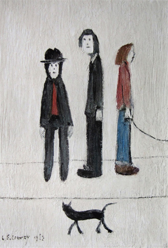 L. S. Lowry: Three Men and a Cat