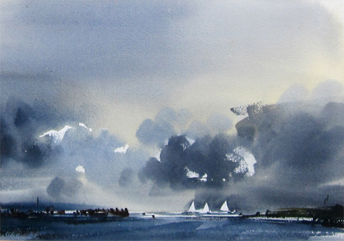 Peter Burman: Approaching Storm, River Orwell
