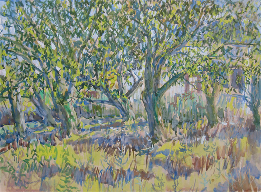 Philip Meninsky: An Orchard in Sunshine