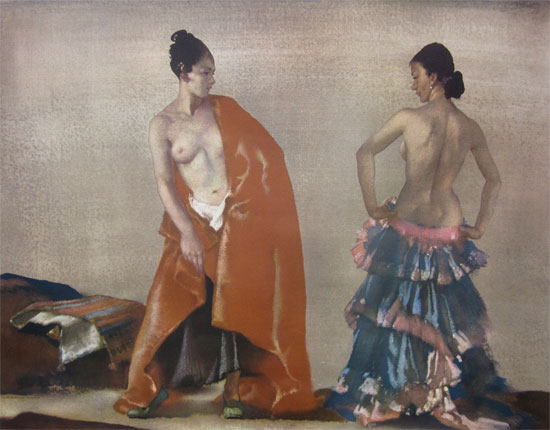 Sir William Russell Flint: Flamenco Dancers