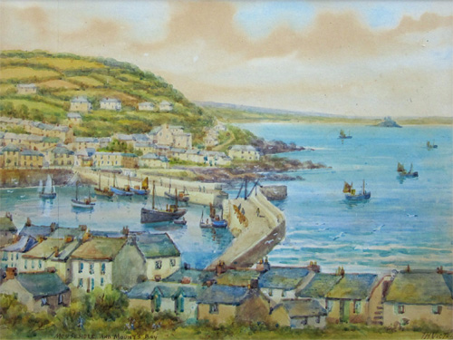 Thomas Herbert Victor: Mousehole and Mounts Bay