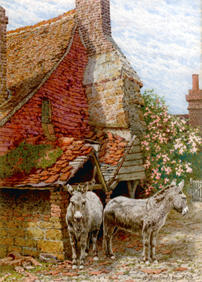 William Biscombe Gardner: 'Their Old Home' Pembury nr Tunbridge Wells