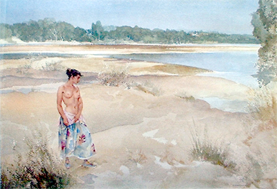 Carlotta on the Loire by Sir William Russell Flint
