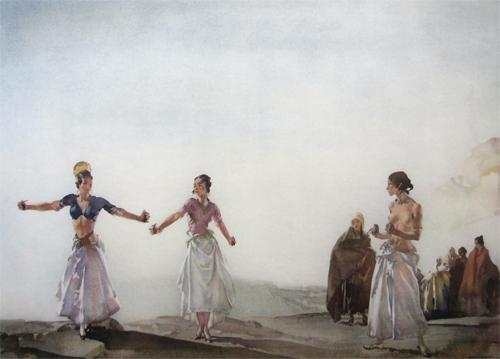 Castanets by Sir William Russell Flint