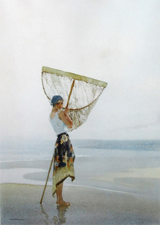 Eve With Her Net by Sir William Russell Flint