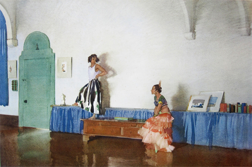 In My Studio by Sir William Russell Flint