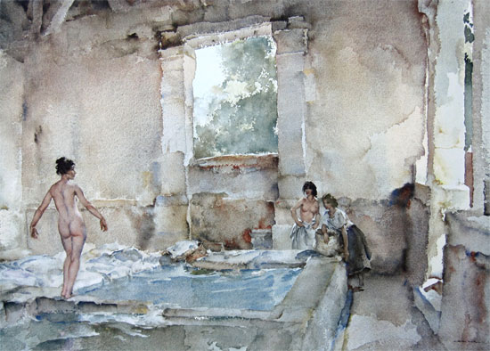 Sir William Russell Flint: Lavoir, La Bastide