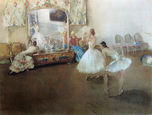 The Mirror of the Ballet by Sir William Russell Flint