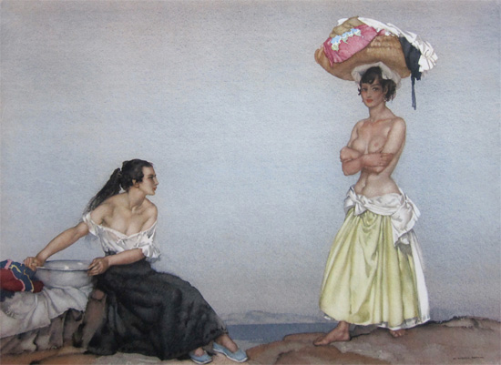 Rosa and Marissa by Sir William Russell Flint