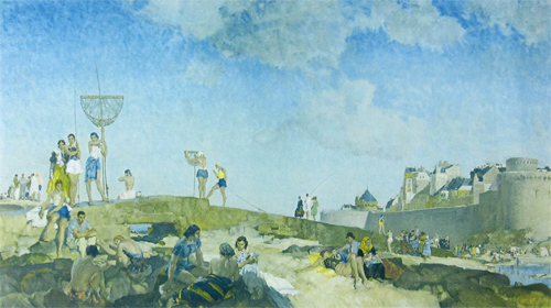 St. Malo, August 1939 by Sir William Russell Flint