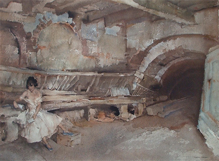 The Secret Retreat by Sir William Russell Flint