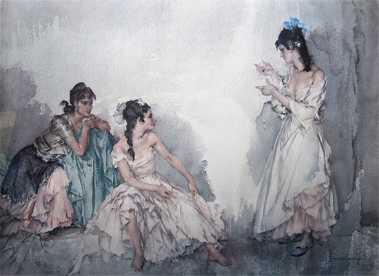The Pendant by Sir William Russell Flint