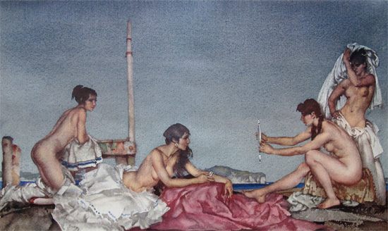 The Silver Mirror by Sir William Russell Flint