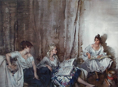 The Trio by Sir William Russell Flint