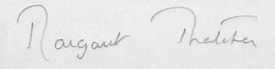 Margaret Thatcher Signature